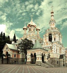 """crimean-lavender: """" St. Alexander Cathedral in Yalta, Crimea. """""""
