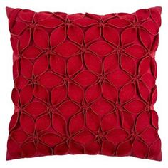 Rizzy Home Decorative Floral Throw Pillow Red - PILT07925RE001818