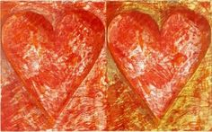 """Jim Dine, """"Two Red Hearts"""", Woodcut × cm Edition of 150 Neo Dada, Jim Dine, Artsy, Dining, Red Hearts, Food"""