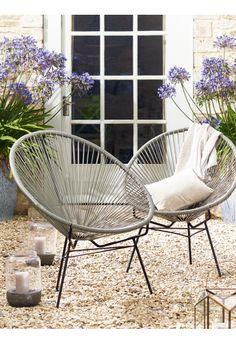 Grey String Chair - Outdoor Living Cox & Cox ulkokalusteet tuoli puutarha £125 + 20 pp