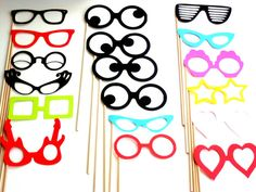 Photo Booth Props Set of 18 Wedding Photo Booth Props by PartyHQ, $44.00