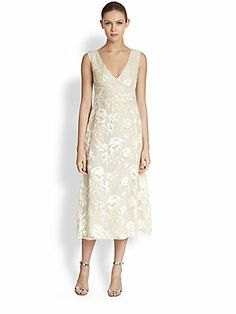 Rochas Floral Embroidered Dress
