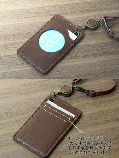 Leather Badge Holder, Leather Lanyard, Leather Belt Bag, Leather Gifts, Leather Craft, Badge Holders, Card Holder, Leather Wallet Pattern, Business Card Case