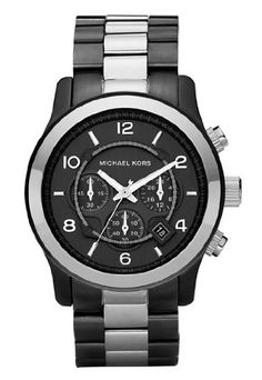 michael kors watches men s black pu chronograph black watches michael kors mk8178 mens jet set white chronograph watch for at