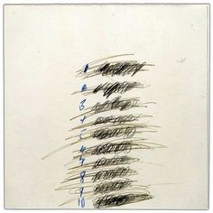 Cy Twombly, Letter of Resignation (detail.)