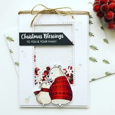 Vics crafts – a place for pretty paper and crafts Uniquely creative polar pals Stamp and colour kit Papermilldirect Christmas Blessings, Christmas Cards, Christmas Ornaments, Color Kit, Colour, Cute Cards, I Card, Stencils, Stamps