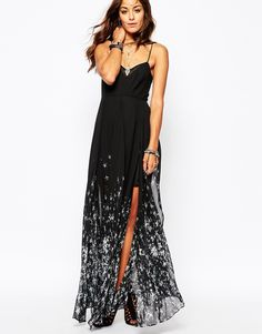 Image 4 ofReligion Olsen Maxi Dress With All Over Star Print