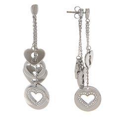 Fossil Jewelry Women's Stainless Steel Earrings | Overstock.com