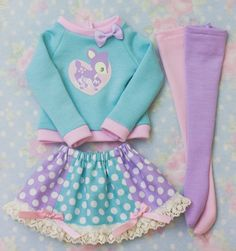 Cute pastel outfit  I dress like a 6 year old, but I really couldn't care less (╹◡╹)凸