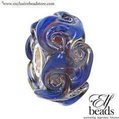 Elfbeads Ocean Vortex Glass Bead