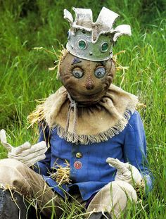 Another Great Scarecrow! More of an art piece than a deterrent of birds though. I just LOVE the face!