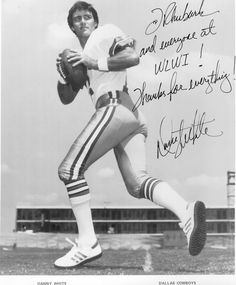 Dallas Cowboys QB Danny White incredible player that lead the Cowboys to 3 consecutive NFC Championship Games!