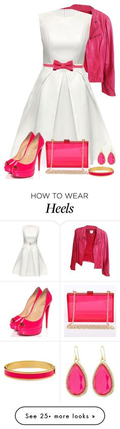 """Heels"" by lorrainekeenan on Polyvore featuring Giorgio Armani, Lattori, Posh Girl, Christian Louboutin, RED Valentino, Halcyon Days and Kate Spade"