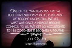 Be Grateful - Joel Osteen