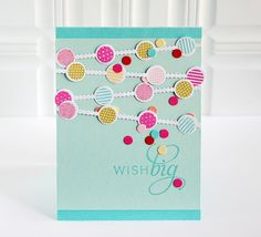 Wish Big Card by Danielle Flanders for Papertrey Ink (October 2013)