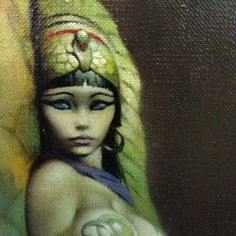 """""""Egyptian Queen"""", Frank Frazetta, 1969 my dad has this up as inspiration in his studio. which is funny because he doesn't draw curvy chicks."""