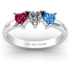 Found on jewlr.com. Decided to design this because I was bored. Was meant for mother & children but I changed it to boyfriend & girlfriend. Just use birthstones and engrave the date and there you go. <3