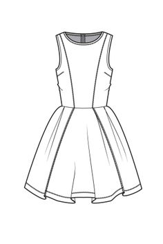 Fit and flare dress fashion flat drawings fashion sketches, Fashion Design Template, Fashion Pattern, Fashion Templates, Fashion Sketchbook, Dress Drawing, Drawing Clothes, Fashion Design Drawings, Fashion Sketches, Moda Fashion
