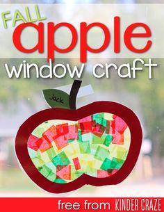 FREE apple window craft template