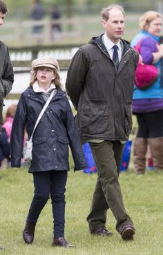 Prince Edward, Earl of Wessex and his daughter Lady Louise Windsor attend The Royal Windsor Horse Show