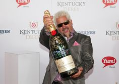 YEAH THIS GIANT BOTTLE OF CHAMPAGNE! | 24 Photos Of Guy Fieri Being TotallyStoked