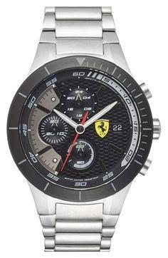 Scuderia Ferrari 'Redrev Evo' Chronograph Bracelet Watch, 46mm