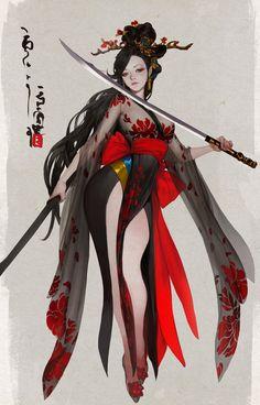 Pin by stephanie chan on character design in 2019 anime art, Character Design Cartoon, Fantasy Character Design, Character Design Inspiration, Character Art, Fantasy Girl, Fantasy Art Women, Tatoo Geisha, Geisha Art, Geisha Japan