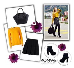 """Romwe 5/VII"" by nermina-okanovic ❤ liked on Polyvore featuring Alexander Wang and romwe"