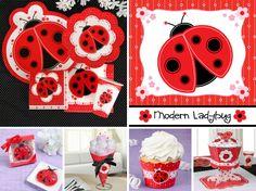Modern Ladybug Party Decorations  http://www.bigdotofhappiness.com/molapasubash.html