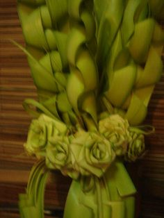 Palm Sunday palm art ~ I would love to figure out how to make this!