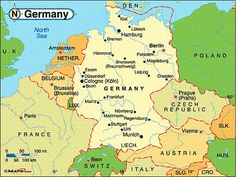 map of germany - was in Kassel