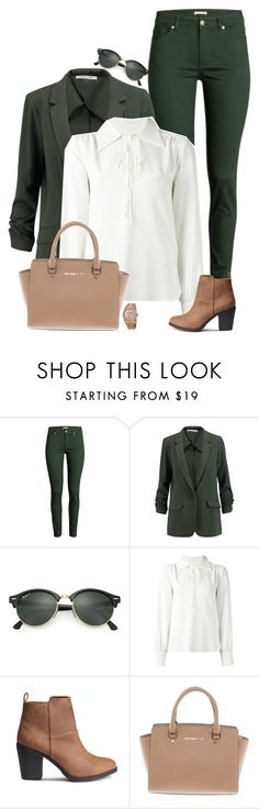 """Untitled #812"" by bunnylovexox ❤ liked on Polyvore featuring H&M, Elizabeth and James, Ray-Ban, See by Chloé, Michael Kors and Rolex"