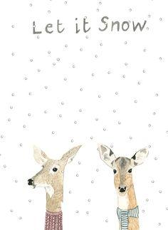 Christmas Card designs / Dyluniadau  Cardiau Nadolig: Dear Prudence     £2.20    Contact: shop@mostyn.org  01492 868191