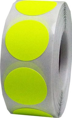 500 Neon Fluorescent Yellow Dot Stickers  0.75 by TheDotSpotLane.  #color #colorcoding #organizing #crafting #pin #pinning #blue #yellow #green #red #purple #gold #silver #metallic #colorcode #pinterest #etsy #love #beautiful #creative #diy #crafter #art #deco #giftideas #custom #etsyfinds #etsyelite #pic #colors #button #mode #dream #picoftheday #doityourself #working #thinker #crafts #youtube #doer #upscale #christmas #cute #stickers #labels #scrapbook #tinydots #smalldots #littledots
