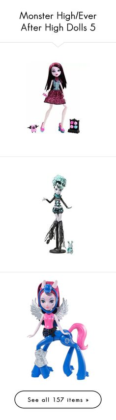 """Monster High/Ever After High Dolls 5"" by bluetidegirl ❤ liked on Polyvore featuring monster high, dolls, toys, jewelry, earrings, ever after high ve bags"