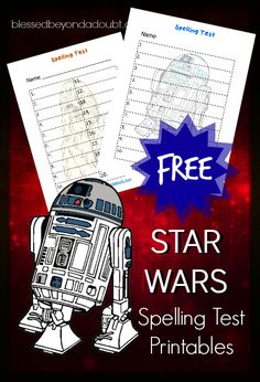 FREE Star Wars spelling test printables! Spelling test have never been more FUN! There are 8 different sheets to choose from!