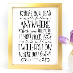 """Where You Lead"" Gilmore Girls Typography Art Print - Paper Ponies Boutique Gilmore Girls Theme Song, Girl Themes, Poster Prints, Art Prints, Typography Art, Pony, Print Paper, Messages, Boutique"