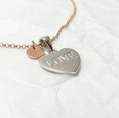 Statement Ketten - Kette - Herzanhänger 925 Silber rosévergoldet  - ein Designerstück von _Andressa_ bei DaWanda