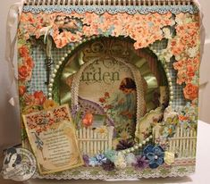 This absolutely stunning altered easel album is by @Denise Hahn using Secret Garden! Isn't this amazing? Click to see all the pages! #graphic45 #DIY