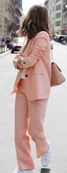 Pastel Pink Suit Chic Style by Fashion And Style
