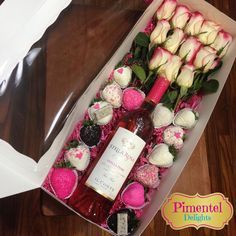Valentine Boxes to hold a dozen roses, Chocolate Covered Strawberries, and a bottle of wine - from BRP Box Shop. Valentine Boxes to hold a dozen roses, Chocolate Covered Strawberries, and a bottle of wine - from BRP Box Shop. Valentines Gifts For Her, Valentine Box, Valentine Nails, Valentine Ideas, Valentine Flowers, Valentines Sweets, Strawberry Box, Strawberry Shortcake, Deco Rose