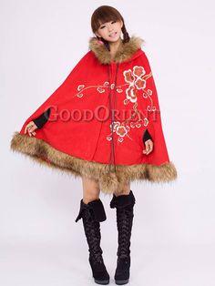 Elegance Red mantle for women