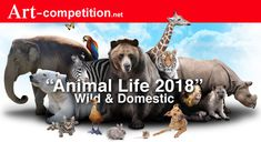 "Theme: ""Animals"" Wild, Domestic, On Land, In The Air or Under The Sea. The image should intrigue and fascinate the viewer with the artist's vision [. Call For Entry, Art Competitions, Animal 2, Types Of Art, Art Market, Under The Sea, Art Blog, New Art, Drawings"
