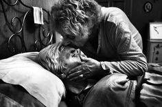 Among the winners of this year's recently announced World Press Photo Awards is this hauntingly intimate and beautiful insight into an Italian couple's battle with Alzheimer's. The images are remarkably sad and powerful, and in stark black and white capture the pain, and love, that wed the couple together.