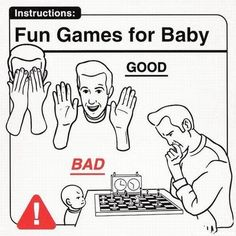 Just funny pictures and memes all day long ! So enjoy ; Good Parenting, Parenting Humor, Parenting Hacks, Baby Games, Fun Games, Humour Parent, Baby Handling, Funny Jokes, Hilarious