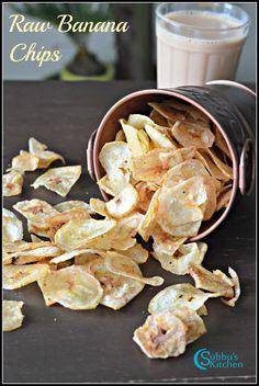 Raw Banana Chips Recipe   Vazhakkai Chips Recipe