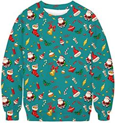 Ugly Christmas Sweater - Ideas that Win all the Ugly Sweater Contests Ugly Sweater Contest, Christmas Bingo, Ugly Christmas Sweater, Being Ugly, Floral Tops, Blouse, Board, Sexy, Ideas