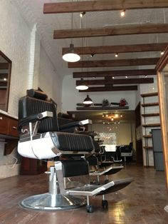 Deep Bowl Pendants Add Industrial Feel to Classic Barbershop | Blog | BarnLightElectric.com