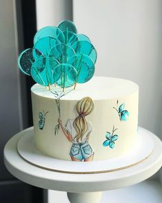 Cake Decorating Frosting, Creative Cake Decorating, Cake Decorating Videos, Birthday Cake Decorating, Cake Decorating Techniques, Creative Cakes, Creative Birthday Cakes, Beautiful Birthday Cakes, Birthday Cakes For Women