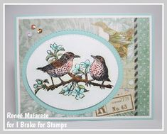 Hello and happy Saturday! Today I'm sharing a pretty pastel card with you. I've used a half sheet set from I Brake for Stamps. Pretty Pastel, Happy Saturday, Sheet Sets, I Card, Decorative Plates, Birds, My Love, Stamps, Coupon